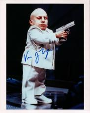 Vern Troyer Signed Autographed 8X10 Photo Austin Powers Mini Me w/Gun w/COA