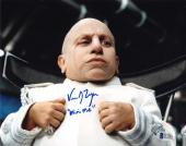 VERNE TROYE SIGNED 8x10 PHOTO + MINI ME AUSTIN POWERS BECKETT WITNESSED BAS