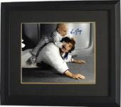 Verne Troyer signed Austin Powers Mini Me 8x10 Photo Custom Framed (horizontal- fight with Austin Powers/Mike Myers)