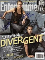 Veronica Roth and Ansel Elgort Signed Entertainment Weekly w/COA Divergent