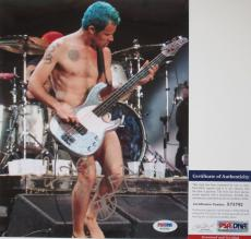 VERY COOL!!! Flea LIVE Signed RED HOT CHILI PEPPERS 8x10 Photo #1 PSA/DNA