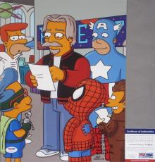 VERY COOL Matt Groening SIGNED AND SKETCH 11x14 Photo THE SIMPSONS PSA/DNA Proof