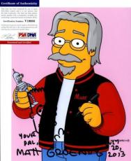 VERY COOL! Matt Groening SIGNED AND SKETCH 8x10 Photo THE SIMPSONS PSA/DNA Proof