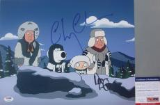 VERY FUNNY!!! Chevy Chase Dan Aykroyd Signed FAMILY GUY 11x14 Photo PSA/DNA