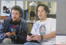 VERY FUNNY!!! Seth Rogen Paul Rudd Signed 40 Year Old Virgin 11x14 Photo PSA/DNA