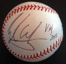 VERY RARE- EDDIE VAN HALEN signed baseball-JSA Full Letter Y83482