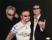 Very RARE- ROGER TAYLOR/BRIAN MAY/PAUL RODGERS (Queen) signed 11x14 photo JSA