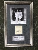 VERY RARE- SONNY BONO & CHER signed 1962 Fan Club Card custom framed display-JSA