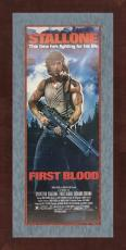 VERY RARE- SYLVESTER STALLONE signed/framed First Blood movie poster-JSA COA