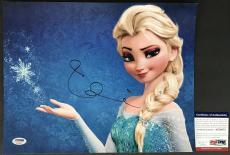 VERY TOUGH!! Idina Menzel ELSA Signed Rare Disney FROZEN 11x14 Photo PSA/DNA
