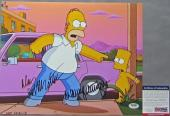 VERY TOUGH Nancy Cartwright Dan Castellaneta Signed THE SIMPSONS 11x14 Photo PSA