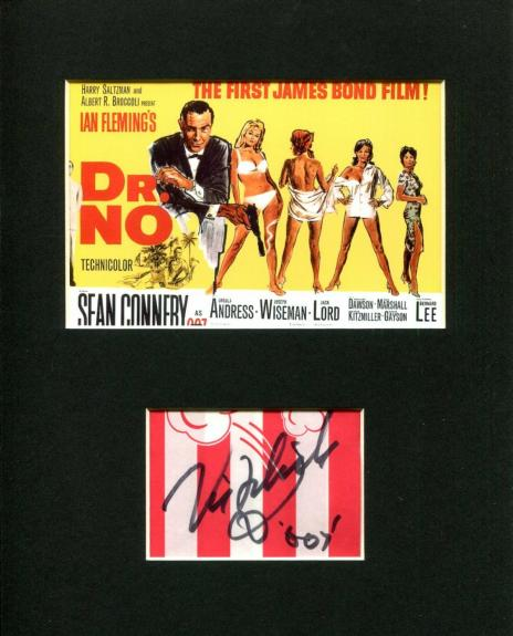 Vic Flick James Bond Theme Song English Guitarist Signed Autograph Photo Display