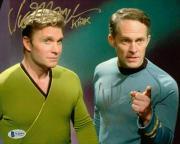 Vic Mignogna & Chuck Huber Signed Star Trek 8x10 Photo DragonBall Z Beckett COA