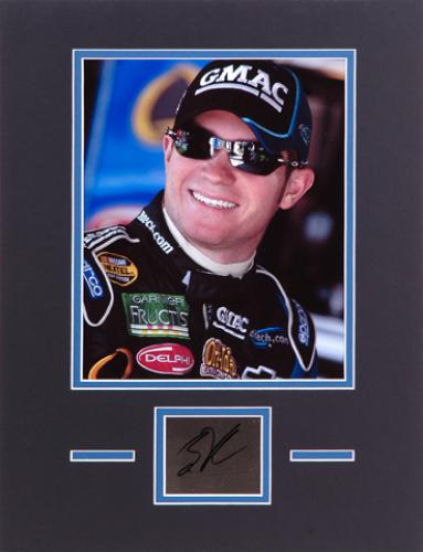 "Brian Vickers Matted 8"" x 10"" Photo with Autographed Plate"