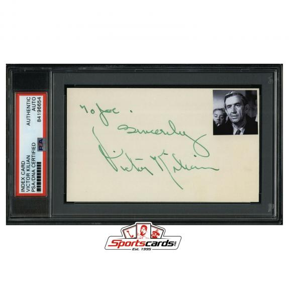 Victor Kilian Signed 3x5 Index Card Actor d. 1979 PSA/DNA Only Angels Have Wings
