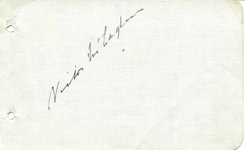 Victor Mclaglen Silent Movie Actor John Wayne Co-star Signed Page Autograph