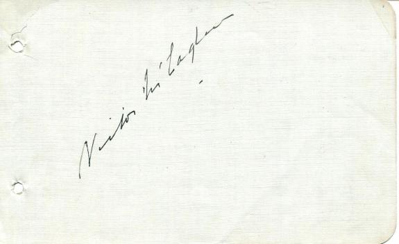 Victor McLaglen Autograph Signed Page Silent Movie Actor John Wayne Co-Star