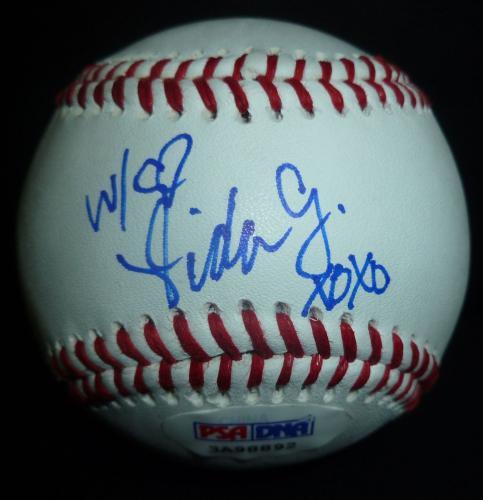 Vida Guerra Signed Baseball PSA/DNA COA Auto'd July 2006 Playboy Magazine Model
