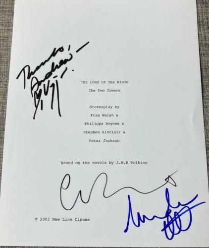 Viggo Mortensen, Cate Blanchett Cast Signed Autograph - Lord Of The Rings Script