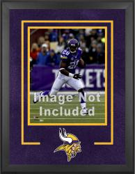 Minnesota Vikings Deluxe 16'' x 20'' Vertical Photograph Frame with Team Logo - Mounted Memories
