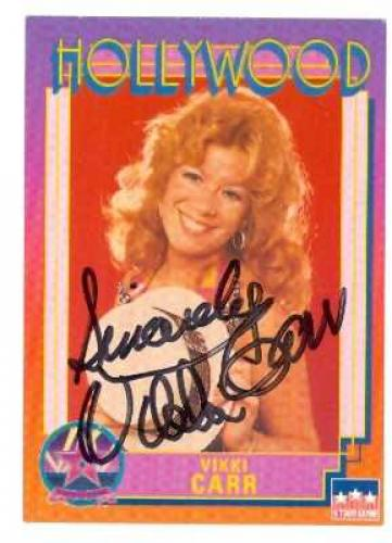 Vikki Carr signed trading card (Singer It Must Be Him) 1991 Hollywood Walk of Fame #166