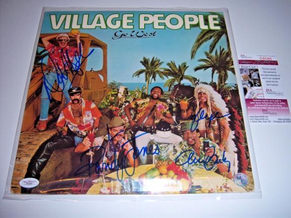 Village People Go West 4sigs Jsa/coa Signed Lp Record Album