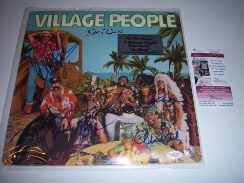 Village People Go West 5sigs Jsa/coa Signed Lp Record Album