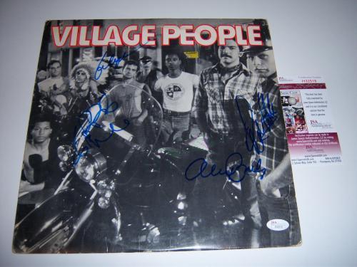 Village People Self Titled 4sigs Jsa/coa Signed Lp Record Album