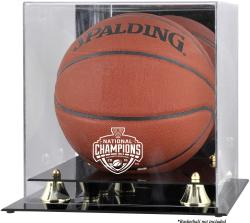 Villanova Wildcats 2016 NCAA Men's Basketball National Champions Golden Classic Logo Basketball Display Case with Mirror Back
