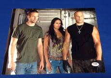 Vin Diesel And Jordana Brewster Signed Fast & Furious 11x14 Photo PSA W52306