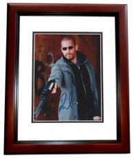 Vin Diesel Autographed 8x10 Photo MAHOGANY CUSTOM FRAME