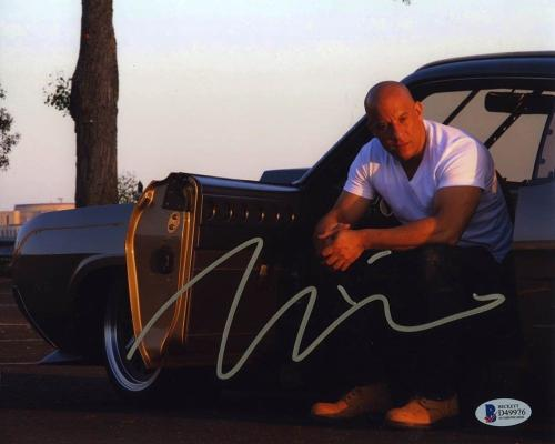 Vin Diesel Fast and Furious Autographed Signed 8x10 Photo Certified BAS COA