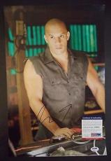 "Vin Diesel ""fast And The Furious"" Signed Autograph 12x18 Mini Poster Psa/dna Coa"