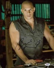 Vin Diesel Fast & Furious Signed 11x14 Photo Psa/dna #u99042