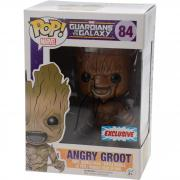 Vin Diesel Guardians Of The Galaxy Autographed #84 Angry Groot Funko Pop! - JSA