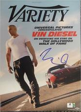 Vin Diesel Hand Signed Autographed Variety Magazine Cover GA758167