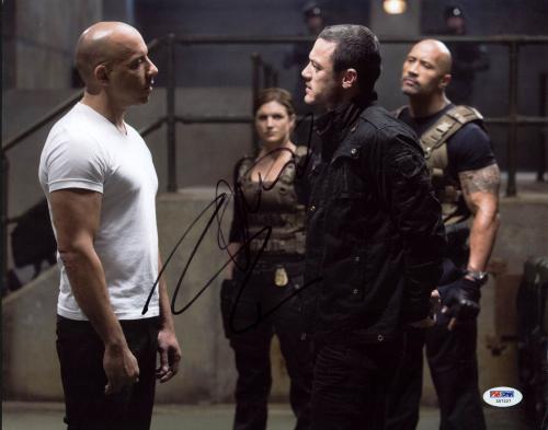 Vin Diesel & Luke Evans Fast & Furious 6 Signed 11X14 Photo PSA/DNA #Z57227