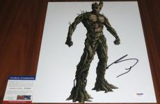 Vin Diesel Signed 11x14 Guardians of the Galaxy I Am Groot PSA/DNA
