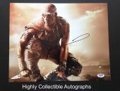 Vin Diesel Signed 11x14 Photo Psa Dna Coa Autograph Riddick Chronicles Of