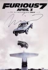 Vin Diesel signed 12x18 Furious 7 poster photo! Fast & Furious! Riddick! PSA COA
