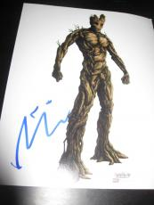 VIN DIESEL SIGNED AUTOGRAPH 8x10 PHOTO GUARDIANS OF THE GALAXY MARVEL COA AUTO E