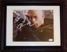 Vin Diesel Signed Autographed 8x10 Photo JSA Framed!