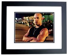 Vin Diesel Signed - Autographed Fast and Furious 11x14 Photo BLACK CUSTOM FRAME - Dominic Toretto