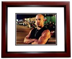 Vin Diesel Signed - Autographed Fast and Furious 11x14 Photo MAHOGANY CUSTOM FRAME - Dominic Toretto