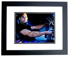 Vin Diesel Signed - Autographed Fast and Furious 8x10 inch Photo BLACK CUSTOM FRAME - Guaranteed to pass PSA or JSA - Dominic Toretto