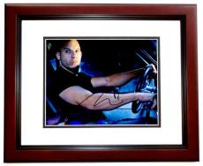Vin Diesel Signed - Autographed Fast and Furious 8x10 inch Photo MAHOGANY CUSTOM FRAME - Guaranteed to pass PSA or JSA - Dominic Toretto