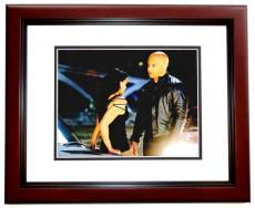 Vin Diesel Signed - Autographed Fast and Furious 8x10 inch Photo MAHOGANY CUSTOM FRAME - Guaranteed to pass PSA or JSA - Dominic Toretto - RARE Longer Signature