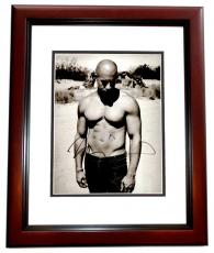 Vin Diesel Signed - Autographed Shirtless The Fast and the Furious Actor 11x14 inch Photo MAHOGANY CUSTOM FRAME - Guaranteed to pass PSA or JSA