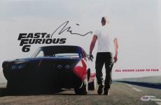 Vin Diesel Signed Fast 6 Authentic Autographed 12X18 Photo PSA/DNA #Y92151