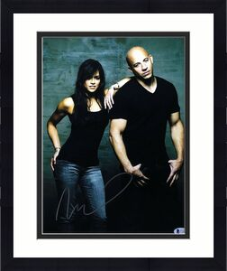 Vin Diesel Signed Fast & Furious 11x14 Photo *Dominic Toretto BAS C16855